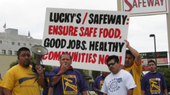Safeway janitors stop work, tired of intimidation