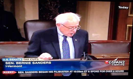 After Sanders filibuster, tax deal passes and moves to House