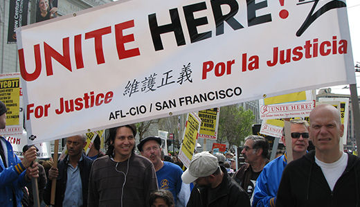Labor marches for peace in San Francisco
