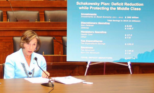 Schakowsky issues progressive deficit plan