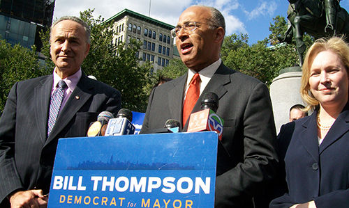Schumer: Thompson will become mayor of NYC