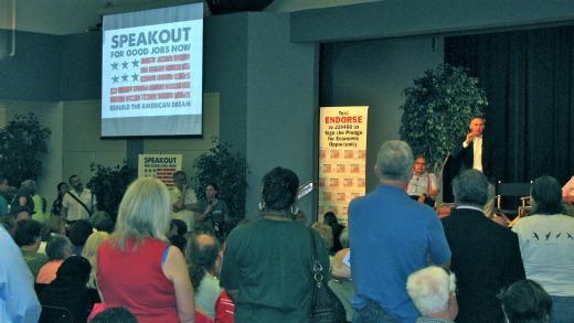 "1,000 demand ""Good Jobs Now"" at Progressive Caucus speakout"