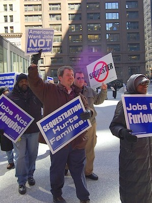 Sequester cuts mean idle planes, poultry plants and VA offices, says AFGE
