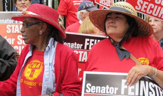 Rally tells Sen. Feinstein: Fight for Social Security