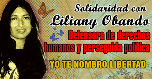 Colombian court turns down political prisoner Liliany Obando's appeal