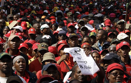 S. Africa gov't urged to talk with unions