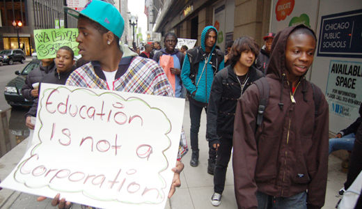Chicago students walk out to protest education cuts