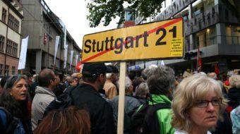 Protests, pepper spray rock German city