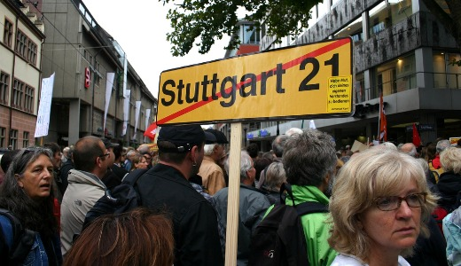 Protests, pepper spray rock German city