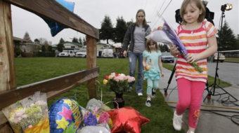 Teacher dies in hail of handgun bullets