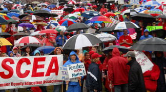 Thousands of Tennessee teachers rally against anti-labor bills