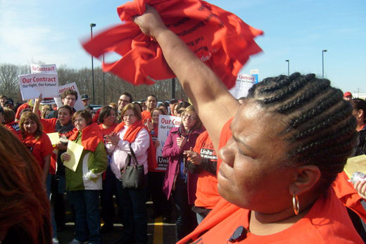 HomeGoods /TJX workers rally for union contract