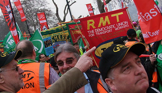 British workers stage massive protest against cuts