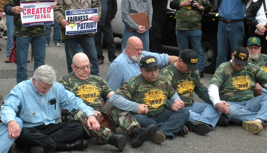 Miners arrested in protest against coal company