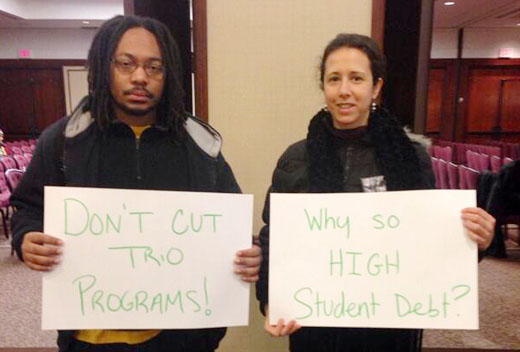 Despite snow, students lobby for #DebtFreeFuture