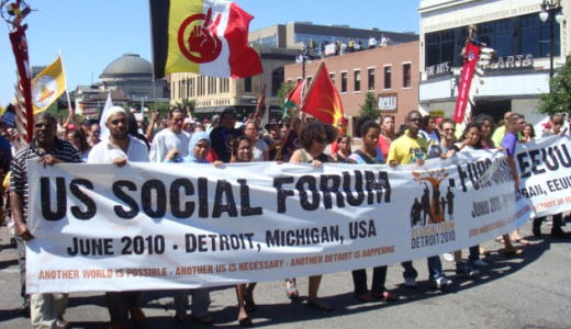 20,000 march in Detroit as Social Forum opens