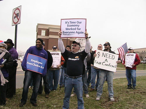 Steelworkers lobby for jobs, jobs, jobs — good, green and safe