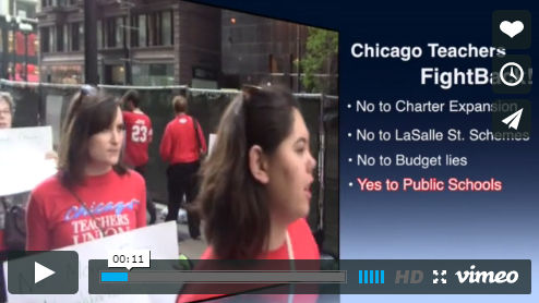 Video: Chicago teachers protest charter expansion