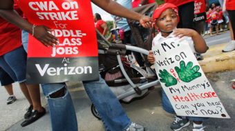 Beep, honk: Verizon picketers get noisy support in upstate NY