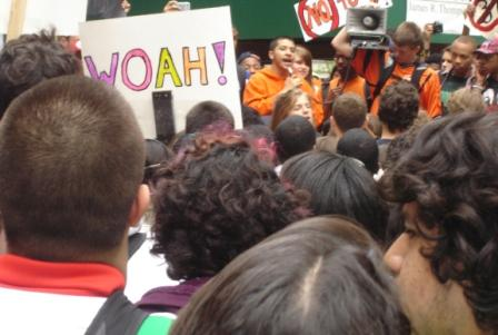 """Chicago students protest drastic cuts: """"Where's our bailout?"""""""