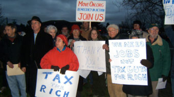 MoveOn.org speakout: No tax cuts for billionaires