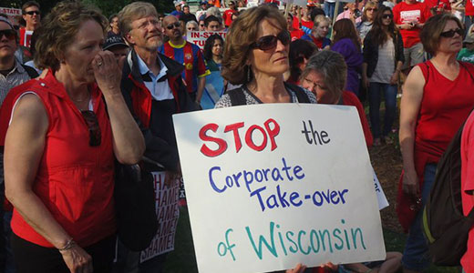 Unions take fight vs. Walker bill to federal court