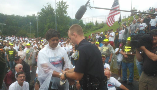 AFL-CIO's Holt-Baker, 30 others, arrested at West Virginia protest