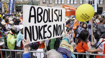 """""""Peace and planet"""" marchers at UN: """"No more nukes!"""""""