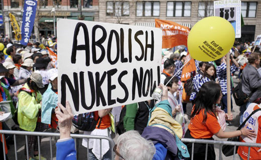 """Peace and planet"" marchers at UN: ""No more nukes!"""