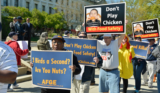 AFGE: new poultry inspection rules endanger public's health