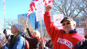 Top labor leader says protests hike support for unions