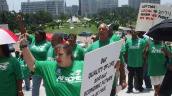 Public workers demand jobs bill