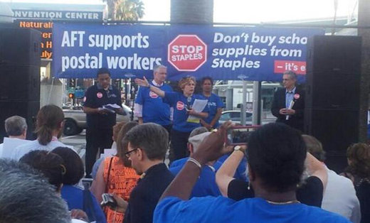 Union says postal service is not really pulling out of Staples