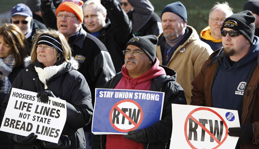 """Right to Work"" for less passes, Indiana's workers refuse to give up"