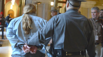 Scores arrested in Albany budget protest