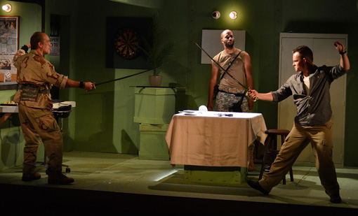 "Black comedy ""Armadillo Necktie"" exposes open wound of U.S. in Iraq"