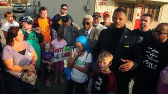 Jesse Jackson among 14 arrested at Bain-owned Illinois plant