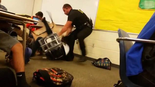 Classmates forced to watch as cop brutalizes South Carolina student