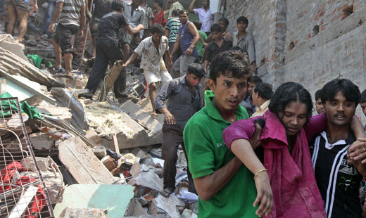 Another Bangladesh factory collapse: Hundreds of casualties