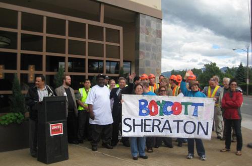 Alaska hotel workers hang tough with Sheraton, Hilton boycotts