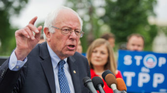 Critical that Sen. Sanders continue the fight against TPP