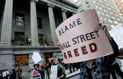"Labor and allies discuss launching a ""Take Down Wall Street"" campaign"