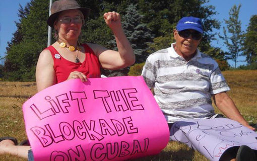Maine and Quebec activists again protest U.S. anti-Cuban blockade