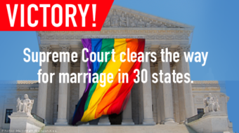 Court's order effectively makes gay marriage legal now in 30 states