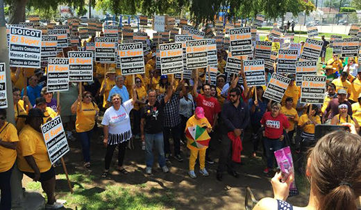 LA supporters take to the streets to back fired El Super worker