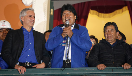 President Morales and Bolivian socialists score big election win