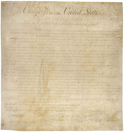 Today in labor history: Congress approves Bill of Rights