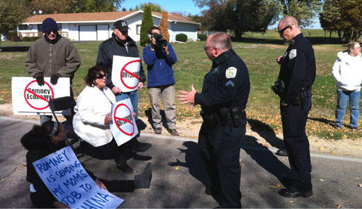 Opponents of outsourcing arrested at Bain plant for blocking trucks