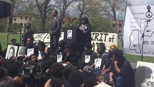 Samaria Rice appeals for unity at Kent State commemoration
