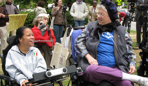 Disabled protest Calif. budget cuts